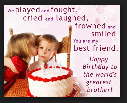 Happy Birthday Message Image For Brother SMS