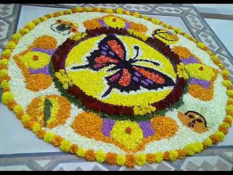 2016 best Onam Pookalam Designs winning competition