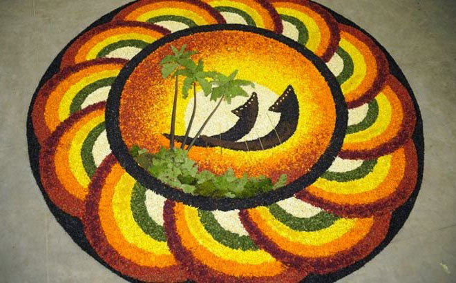 Onam Pookalam Designs and Ideas 2016