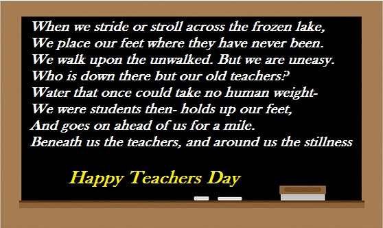 Poem on teachers day September 5