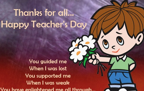 Top 20 teachers day greetings e cards images pictures photos with happy teachers day for an amazing teacher m4hsunfo