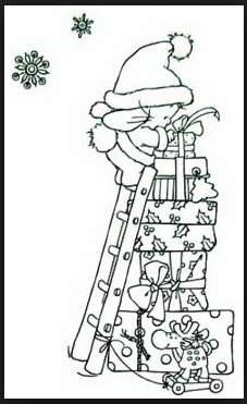Religious Christmas Rubber Stamps