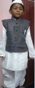 dress-code- of- lal- bahadur- shastri-by-nimah sanhitha-fancy-dress-competition.