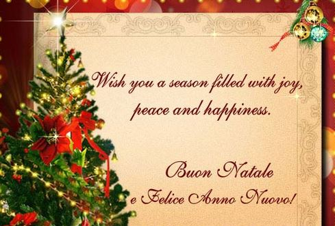 Best Merry Christmas & Happy New Year Wishes in Italian X mas ...