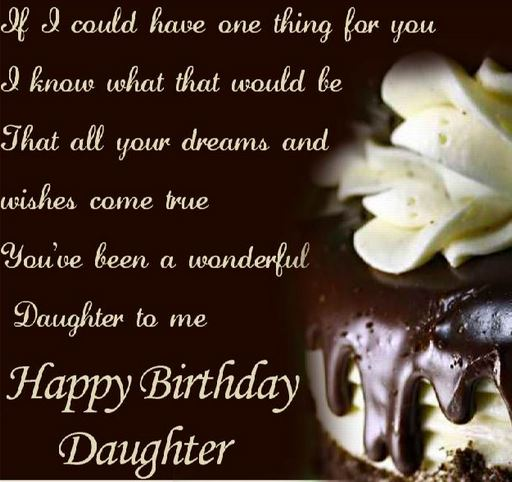 special birthday wish for my daughter from parents father mother