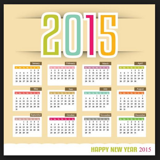 Happy New Year 2015 Calenders Wishes Easy Printable Calender For Free Download SMS Quotes Messages best new year calender 2015 with holidays printable share online