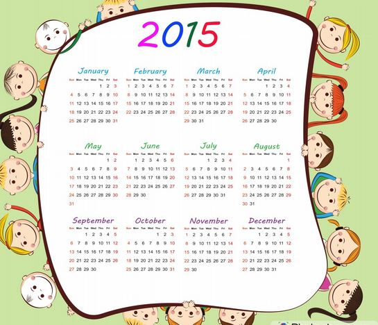 good new year calender 2015 with holidays printable share online for kids children