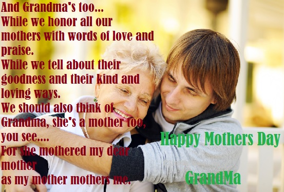 Mothers Day wishes and poem for grandmother