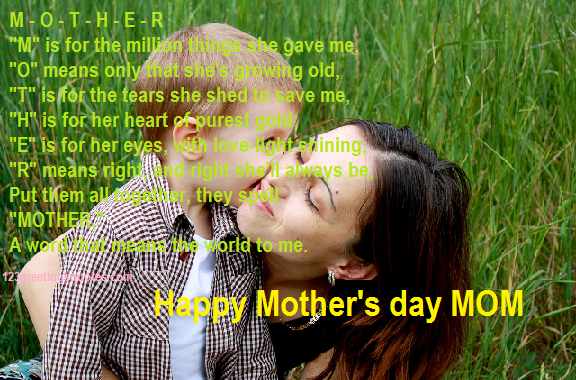 Mothers day poems 2015 for son and daughter`
