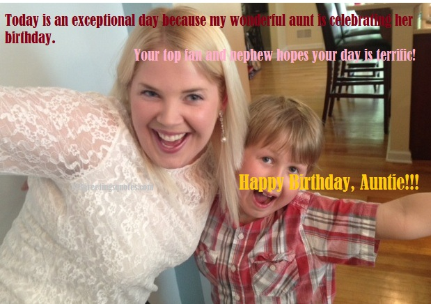 best birthday greetings for auntie