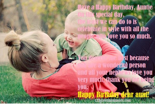 happy birthday poems for my aunty