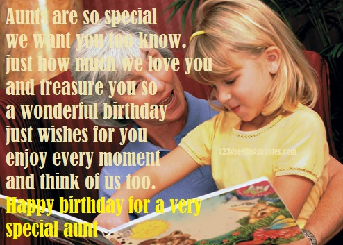 happy birthday wishes for a special aunt
