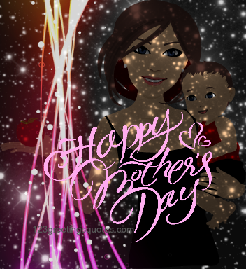 mothers day cartoons with mother wishes