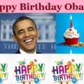 Obama Birthday greeting card