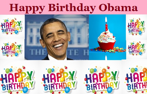 Obama Birthday greeting card