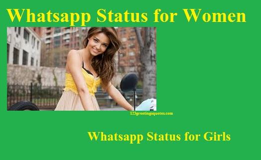 Whatsapp status for Girls Women