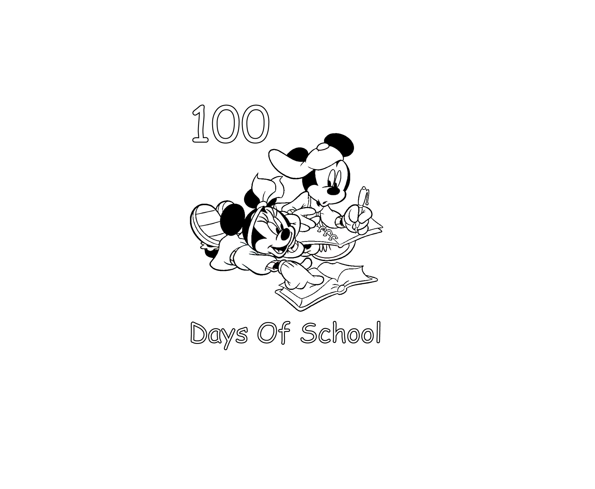 100th day of coloring pages printable kids super day