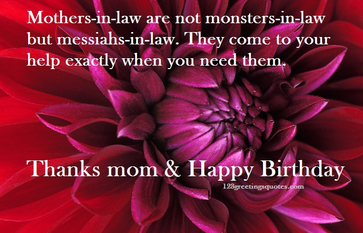 Mother-In-Law Happy birthday Quotes