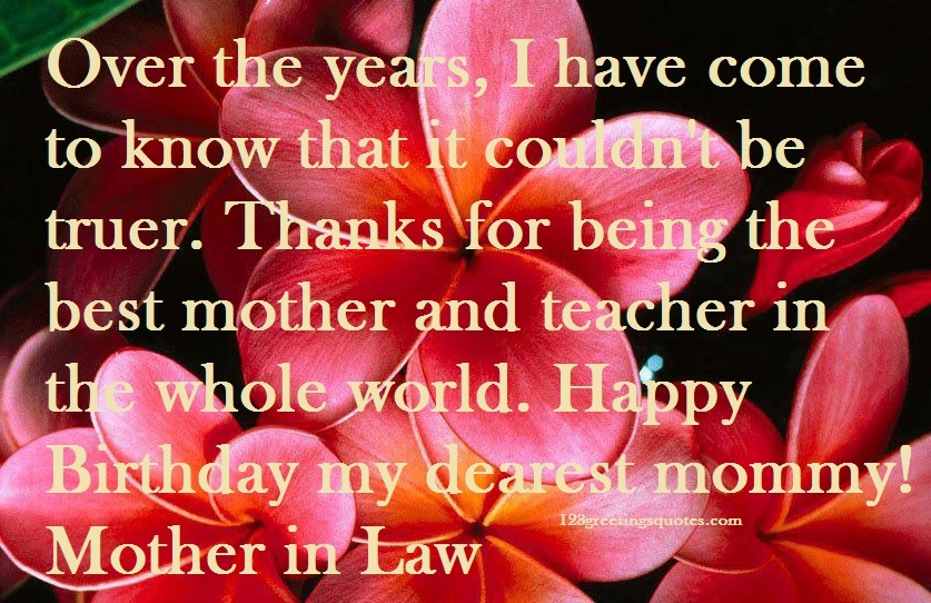 Mother in law birthday wishes form son in law & daughter in law