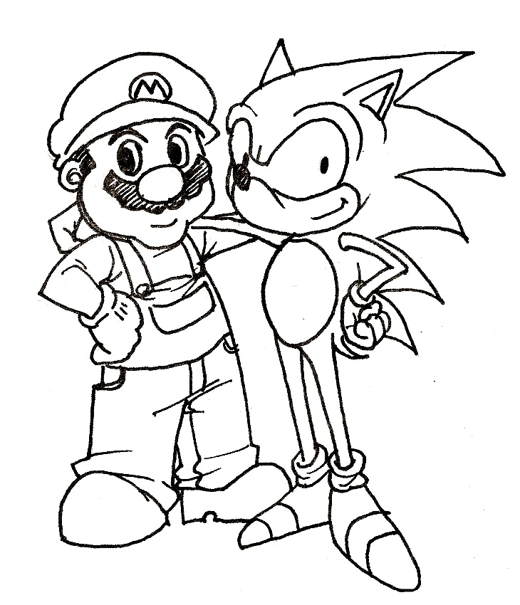Sonic Coloring Pages to Print for kids