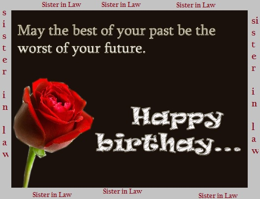 birthday greetings to sister in law images