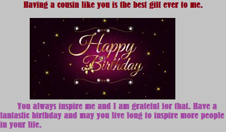 45 Awesome Happy birthday wishes for Cousin – Live Birthday Greetings