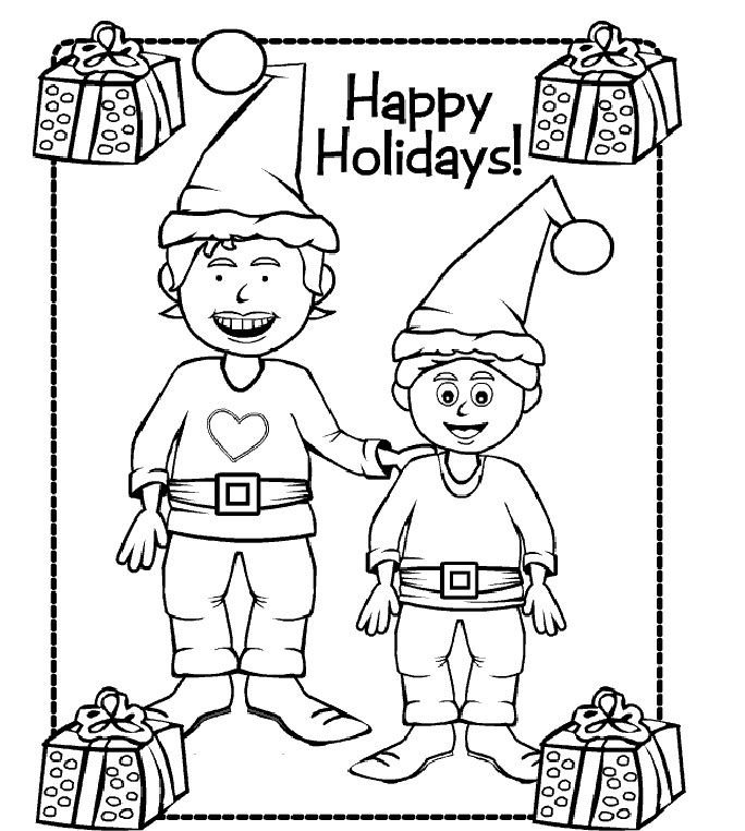 holiday coloring pages printable