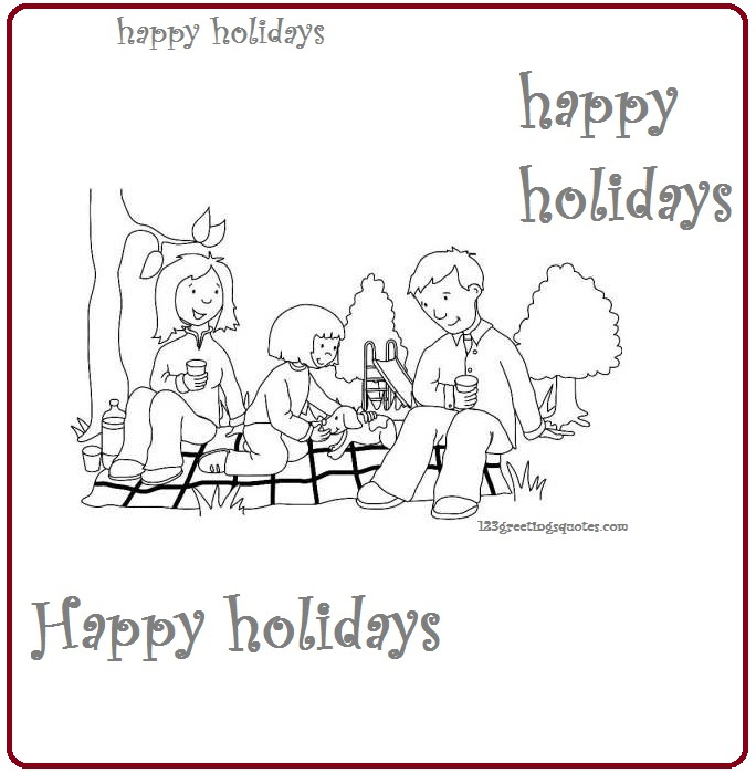 holiday coloring pages to print for kids