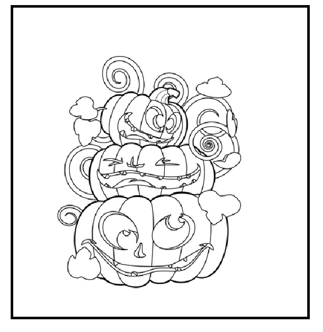 kids pumpkin coloring pages to print