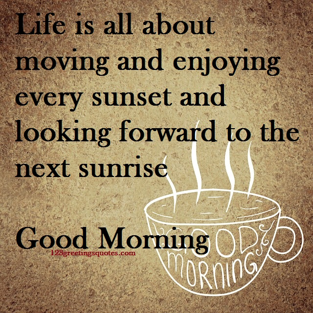 Good Morning Card with Message