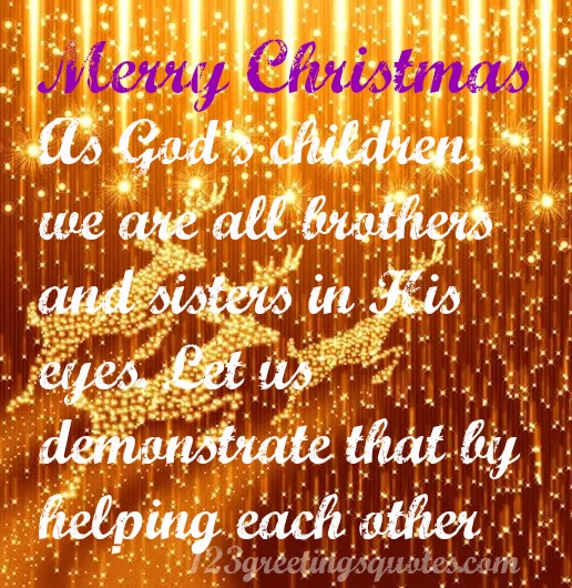 Christmas Inspirational Quotes - Biblical Devotional Sayings 4 Cards