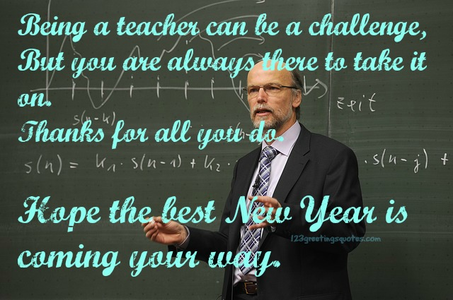 Happy New Year 2016 Messages For lecturer