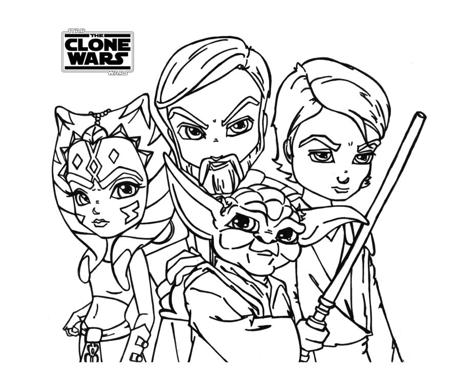 Star Wars The Clone Wars Printable Coloring Pages 7