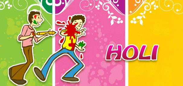 Whatsapp Facebook Hike Cover Image for Holi - {Happy Holi }