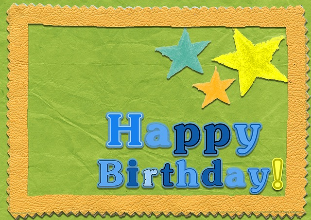 Birthday Card Template for kids