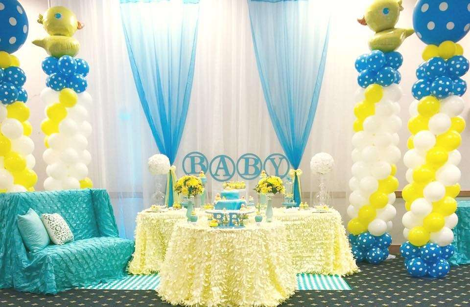 Baby shower decorations inexpensive set the scene ideas for Baby shower decoration set