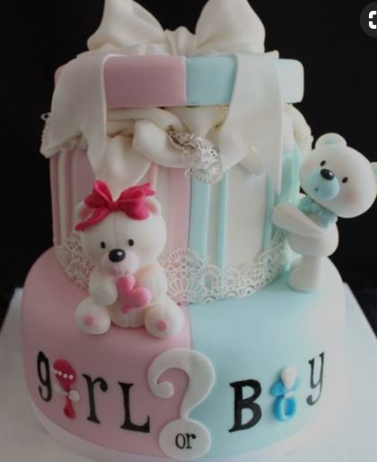 Girl Boy - Baby Shower Cakes