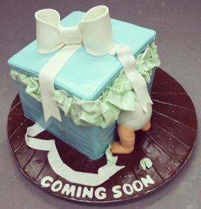 Baby Shower Cakes for boy baby home made easy to prepare